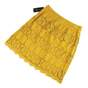 INC International Concepts Midi Mustard Skirt